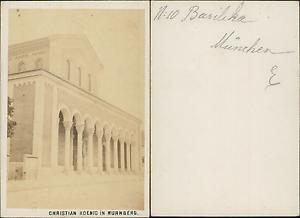 Allemagne Munich Basilique De St Boniface Vintage CDV