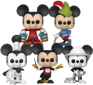 Disney-Mickey-Mouse-90th-Funko-Pop-Vinyl-Bundle-Set-of-5-New-in-Boxes