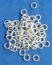 100 silver plated 5mm jump rings, findings for jewellery making crafts