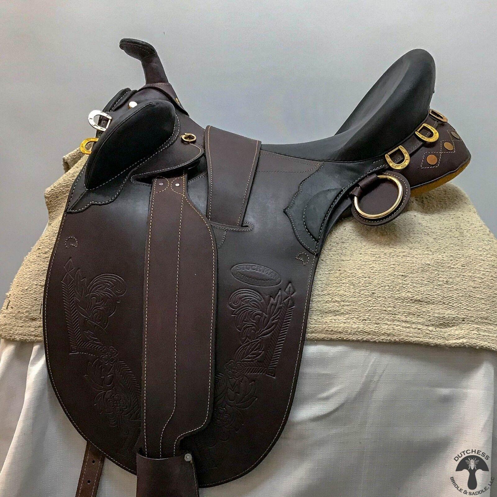Stockman Bush Rider 15.5  Ancho  Silla De Montar  ventas de salida