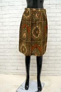 Gonna-MAX-MARA-Donna-Taglia-Size-36-Skirt-Shorts-Woman-Vita-Alta-Cotone-Vintage