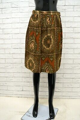 Attento Gonna Max Mara Donna Taglia Size 36 Skirt Shorts Woman Vita Alta Cotone Vintage