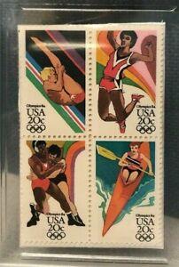 1984 USA Olympics Twenty Cent Stamp GMA Gem MT 10