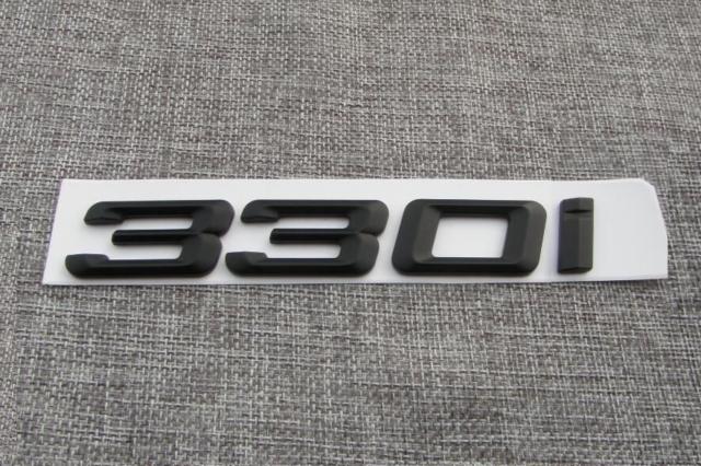 Gloss Black 340i Car Badge Emblem Model Numbers Letters For 3 Series E36 E46 E90 E91 E92 E93 F30 F31 F34 G20