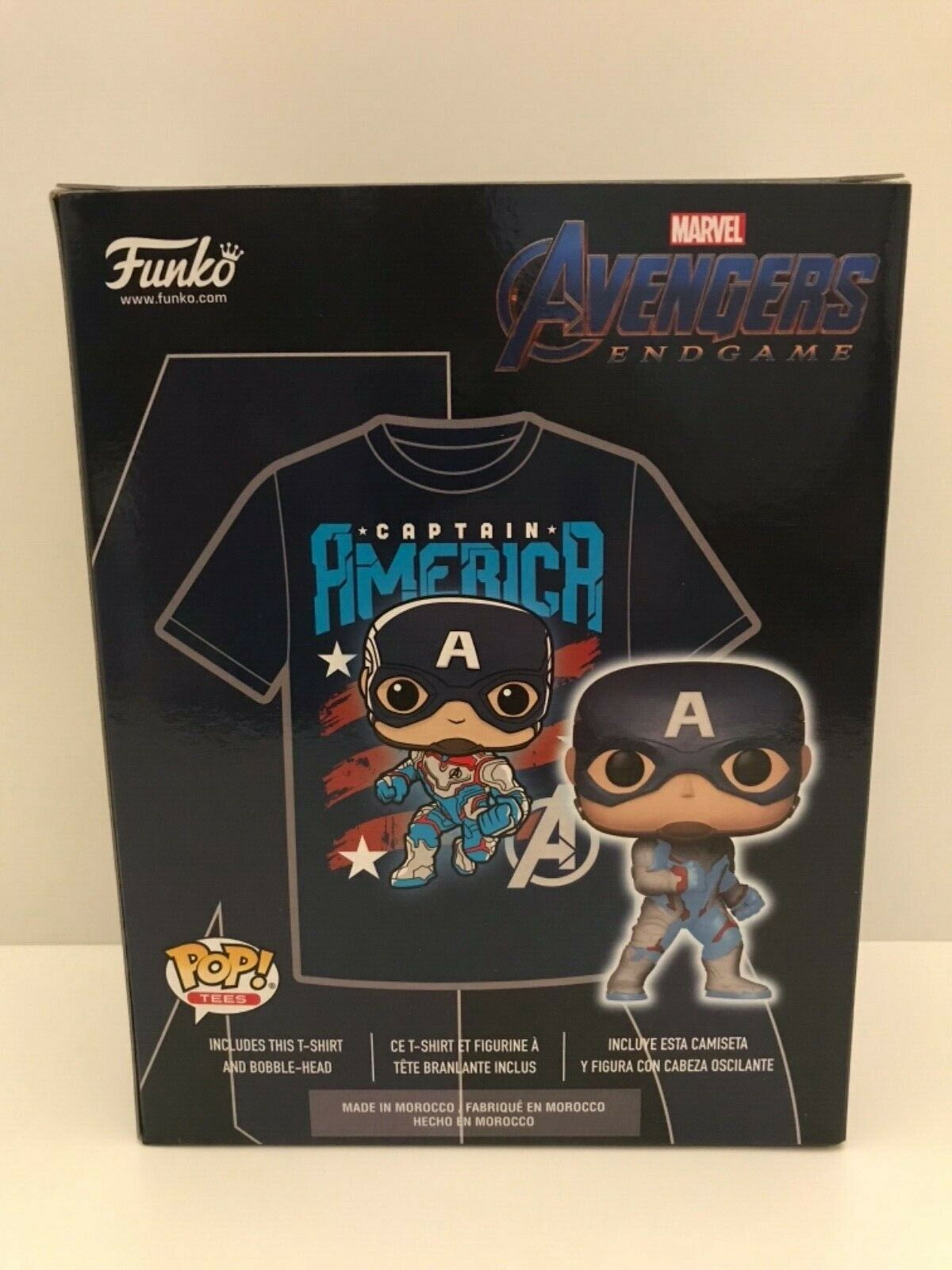 Captain America Funko Pop London MCM Comic Con Exclusive With Medium T-shirt