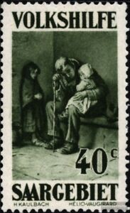 Art Stamps Saar 135 Con Fijasellos 1929 Volkshilfe