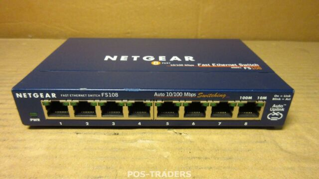 NETGEAR ProSAFE 8-Port 10//100 Fast Ethernet Desktop Network Switch 4-Port PoE