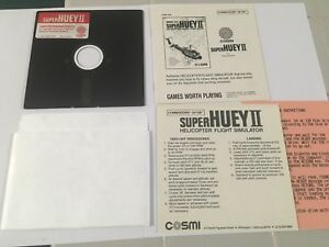 VINTAGE-SUPER-HUEY-II-HELICOPTER-FLIGHT-SIMULATOR-FOR-COMMODORE-64-128