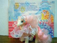SWEET SUNDROP WITH RUFFLE & CARD Prom Queen Sweetheart Sister My Little Pony G1
