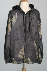 NEW-Mossy-Oak-Break-Up-Eclipse-Black-Camo-Hoodie-Men-039-s-M-L-Hunting-Zip-Up