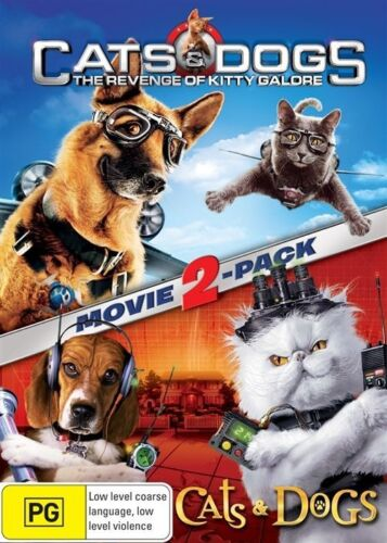 1 of 1 - Cats and Dogs / Cats and Dogs 2 NEW R4 DVD