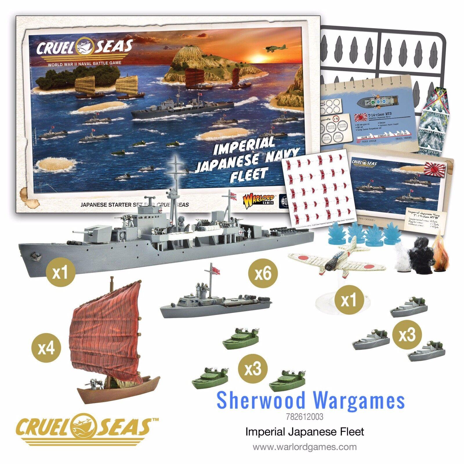 Warlord Games cruel mares Imperial flota japonesa Set 1 300 juego Naval Segunda Guerra Mundial, Nuevo Y En Caja