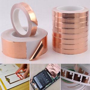 20mX 5cm Single Conductive Adhesive EMI Shielding Copper Foil Tape For Guitar