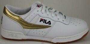 c12fd02b2d Das Bild wird geladen Herren-Fila-Retro-Heritage-Original-Fitness-Weiss -Gold-