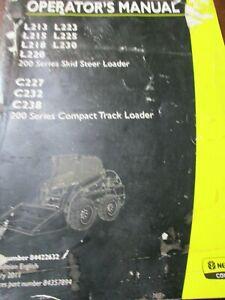 New Holland L213/215/218/220/223/225/230, C227/232/238 Loader Operator's Manual