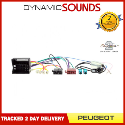 CT20PE06 Car Stereo ISO Wiring Harness Loom /& Aerial Adaptor for Peugeot