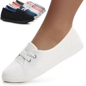 Damen Turnschuhe Sneaker Slipper Flats Freizeitschuhe Halbschuhe Ballerina