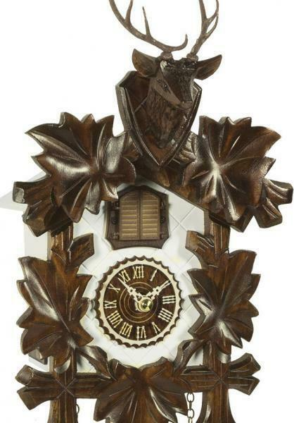 Angemessen Cuckoo Clock Carved Style With Quartz Movement And Music, 373 Qm Hzzg Diversifiziert In Der Verpackung