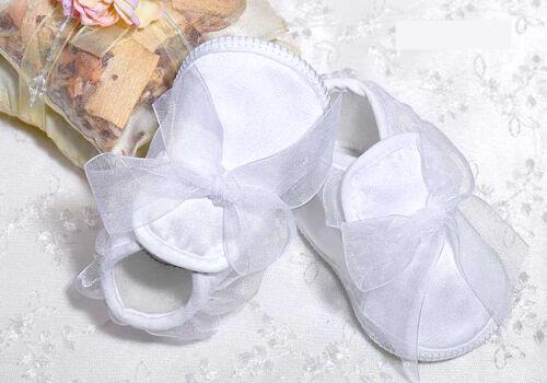 Taufschuhe Babyschuhe Satin Schleife Mädchen Taufe Hochzeit 17 18 19 20 NEU **