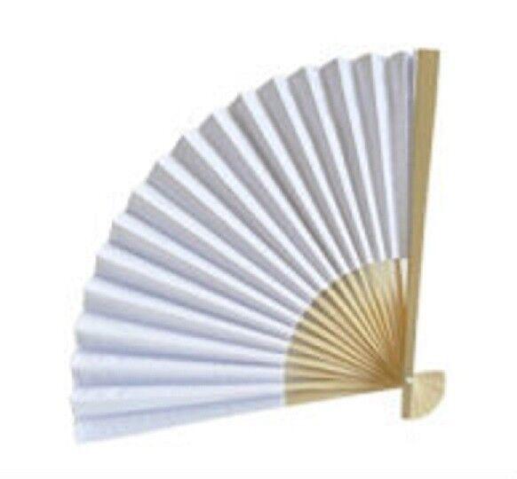 50 Weiß Paper Fans Beach Wedding Favors