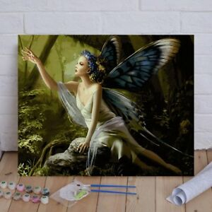 16X20-039-039-Butterfly-Fairy-Paint-By-Numbers-Kit-Digital-Acrylic-DIY-Canvas-Painting