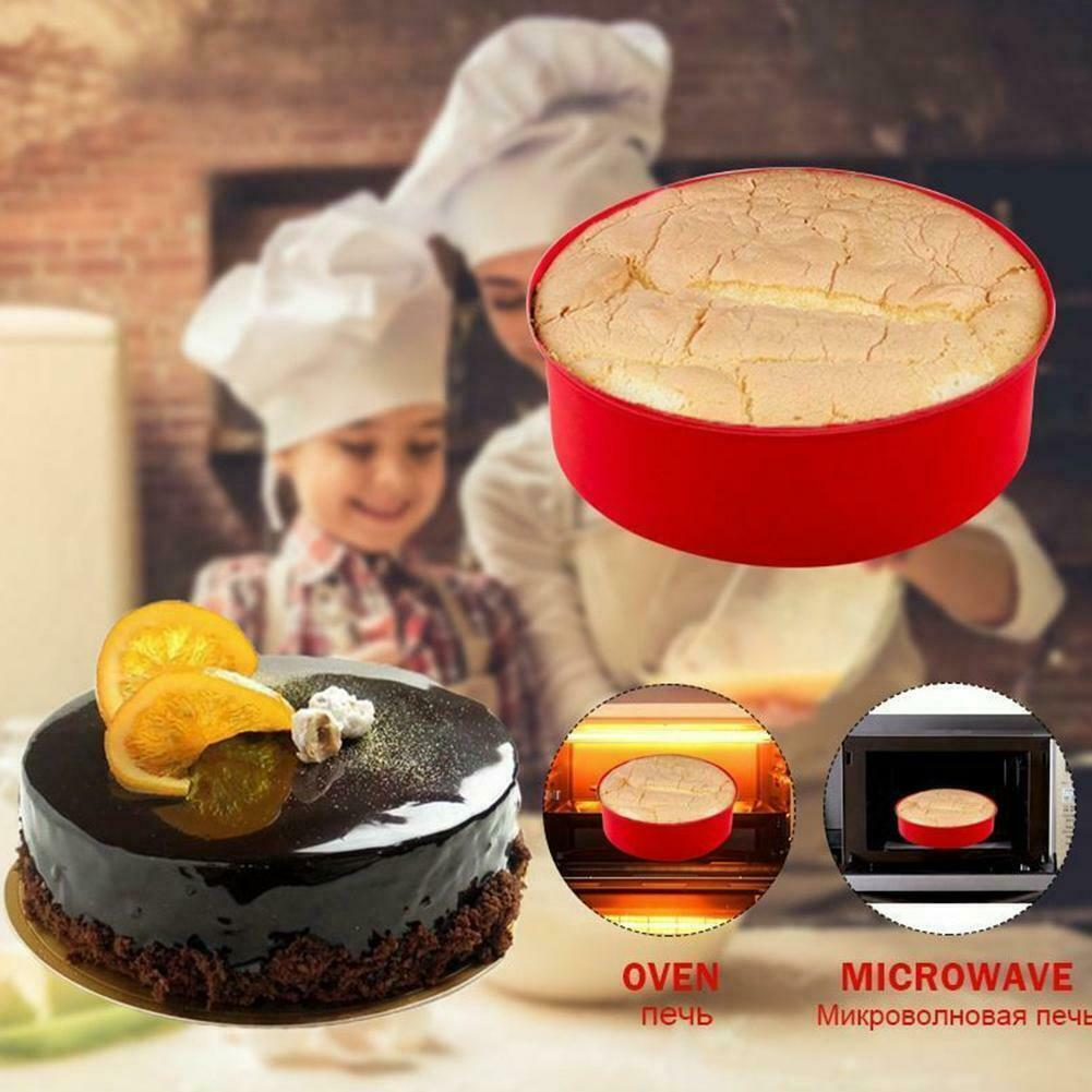 """6//8//9/"""" Silicone Round Bread Mold Cake Pan Muffin Mould Bakeware Baking Tray"""