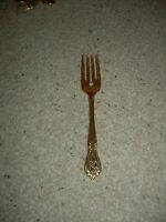 Hollyberry Holly Gold Plated Stainless Small Fork Free Ship