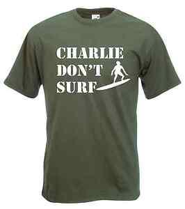 'Charlie Don't Surf' Logo T-Shirt - Apocalypse Now, Cult Movie, Vietnam S-XXL