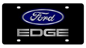 Image Is Loading New Ford Edge Blue Logo Acrylic License Plate