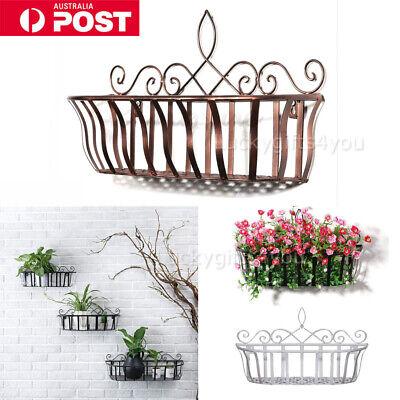 Wrought Iron Wall Mounted Planter Flower Basket Holder Storage Home Organizer H Ebay