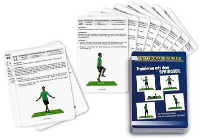 Trainingskarten - Springseil Skipping Rope Hüpfseil (30 Workouts) Produkte Werden Ohne EinschräNkungen Verkauft