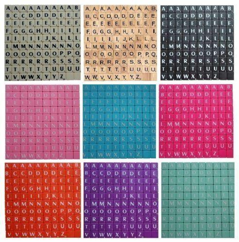 SCRABBLE TILES  LETTERS FULL SET 1-2000 PIECES WOODEN//PLASTIC COLOURED