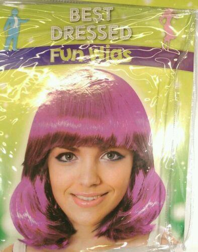 partie nouveau Robe fantaisie violet longue perruque Style Bob poule cerf