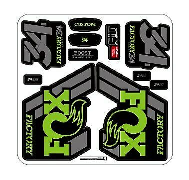 2018 FOX 34 Mountain Bike Front Fork Stickers Bicycle Fox34  MTB Decals