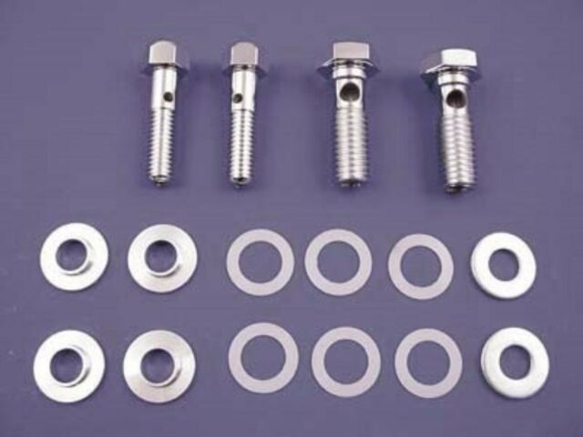 "Chrome 1-3//4/"" Breather Bolt Set for Harley Softail XL Dyna Motorcycle Models"