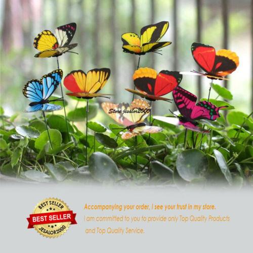 Butterfly Stakes Outdoor Yard Planter Flower Pot Bed Garden Decoration Yard Art