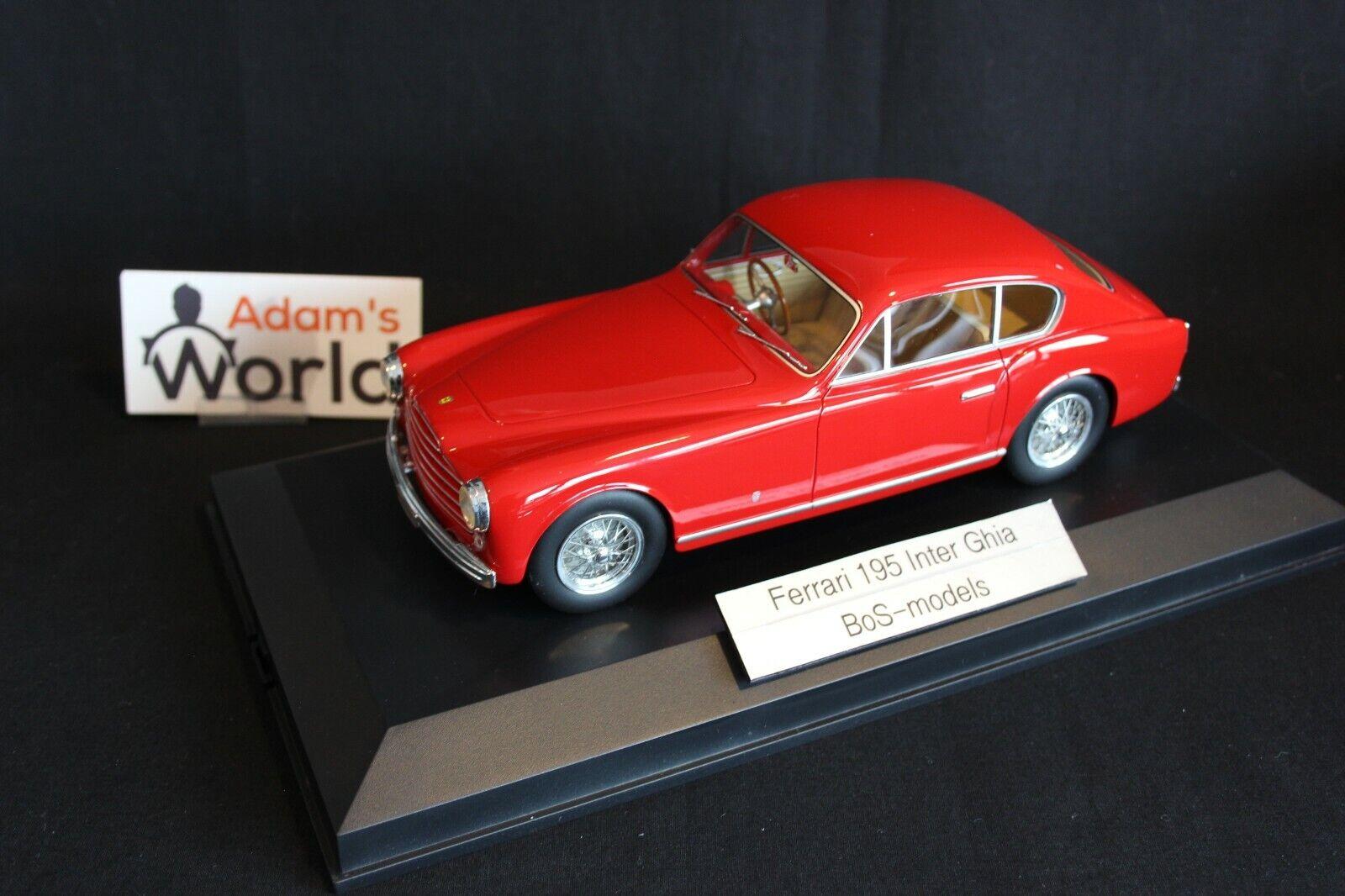 venta BoS Ferrari 195 Inter Ghia 1 1 1 18 rojo (PJBB)  tomamos a los clientes como nuestro dios