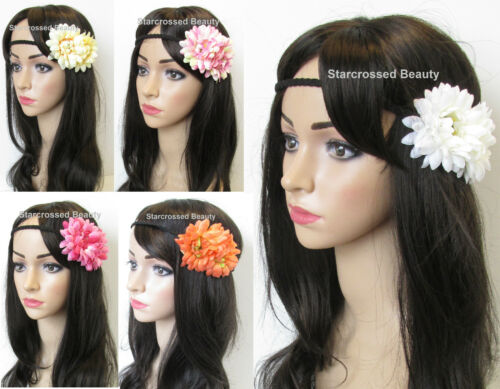 Summer Daisy Flower Headband Vintage Beach Festival Plaited Garland Boho N42