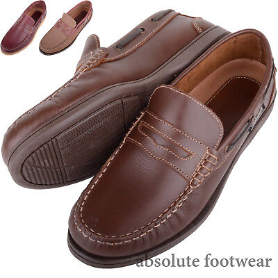 Aufrichtig Mens / Gents Genuine Leather Summer / Holiday Slip On Boat / Deck Shoes Einen Einzigartigen Nationalen Stil Haben