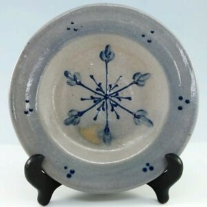 Rowe-Pottery-Works-Snowflake-Plate-Christmas-Handmade-Hand-Painted-Cambridge-WI