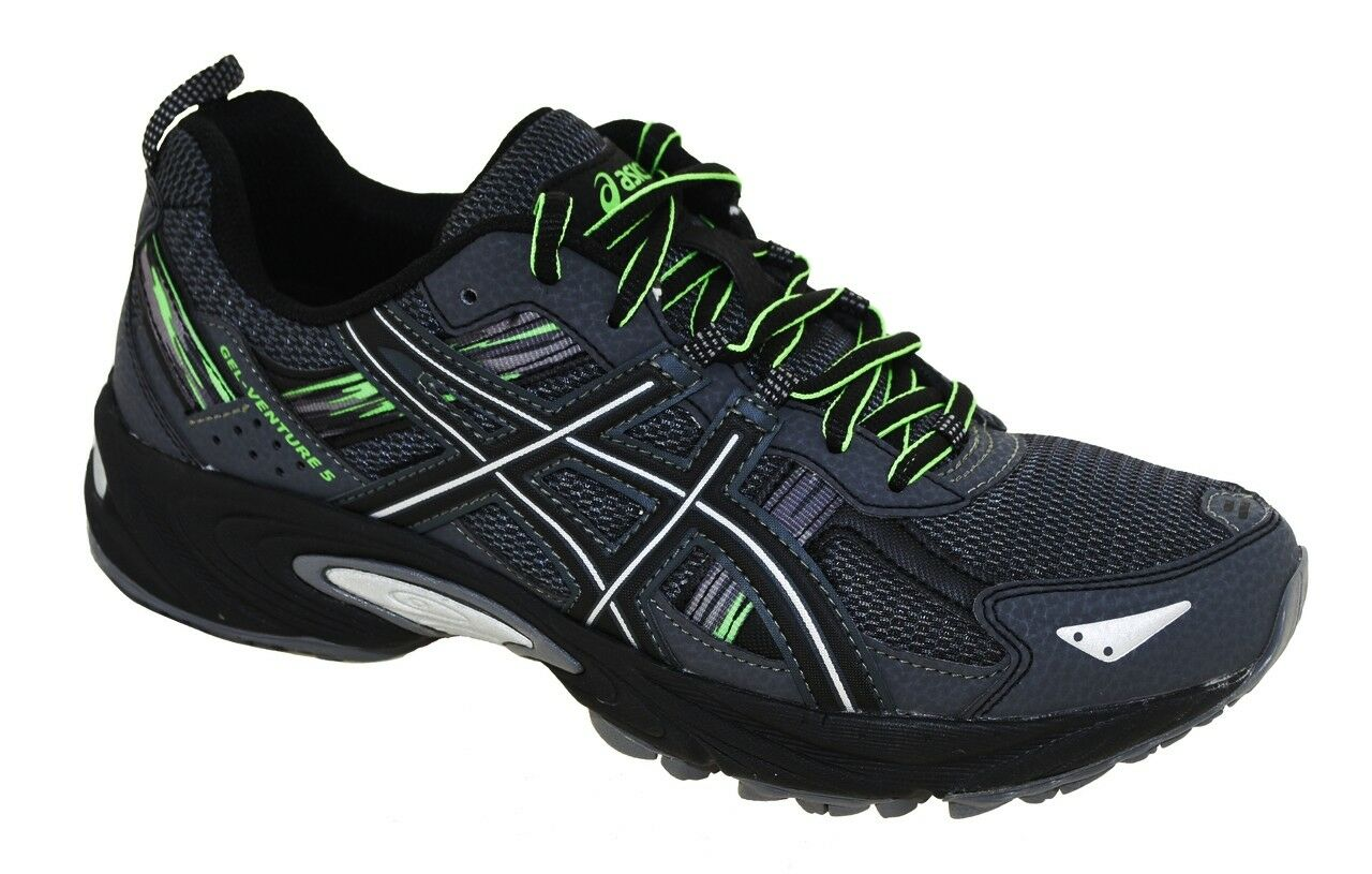 NEW Uomo ASICS GEL-VENTURE 5 TRAIL RUNNING SHOES - 15 / EUR 50.5 AUTHENTIC GREY