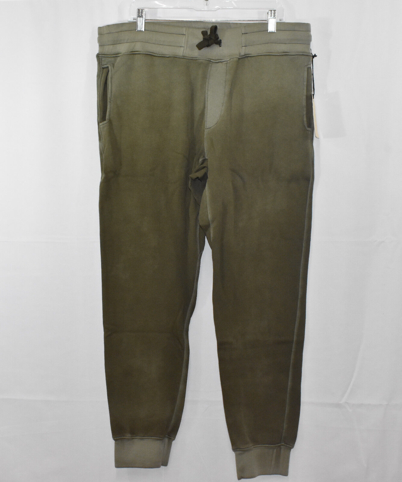 M904826 11-85A CC7 COTTON CITIZEN  Herren OLIVE SWEATPANTS W/ GUNMETAL ZIPPERS