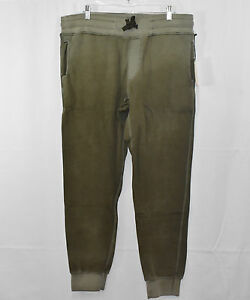 Activewear Bottoms Self-Conscious M904826 11-85a Cc7 Cotton Citizen Mens Olive Sweatpants W/ Gunmetal Zippers Preventing Hairs From Graying And Helpful To Retain Complexion