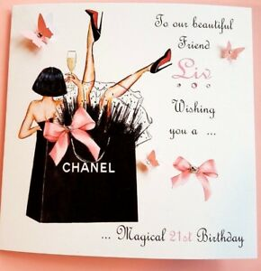 Image Is Loading Personalised Handmade Birthday Card 21st 18th 40th Daughter