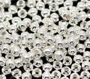1000-Neu-Versilbert-Rund-Glatt-Spacer-Perlen-Beads-3mm-hello-jewelry