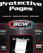 200 Large Dollar Bill Currency 3 Pocket Pages - Coupon - Money - Binder Sheets