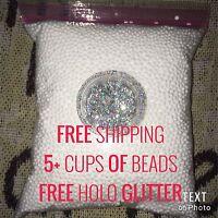 White Styrofoam Foam Beads Slime Gift Diy