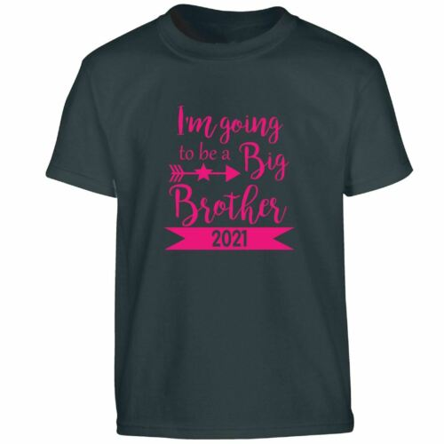 I Am Going To Be A Big Brother 2021 Cool Kids T Shirt Tee Top Boy Clothing Gift