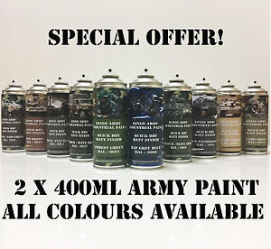 2-x-Army-Spray-Paint-Military-Vehicle-Paint-paintball-airsoft-model-paint