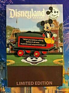 MINNIE TEACUP CAR Disneyland Passholder 2019 Pin #3 Quote Train Railroad Disney